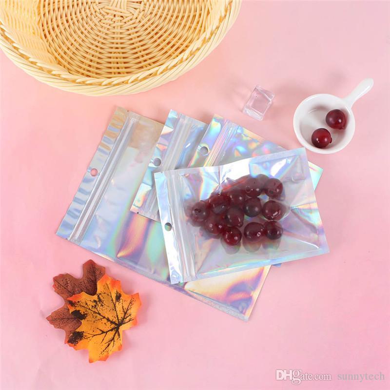 Множественных размеры Resealable Запах Proof Сумка Фольга сумка Плоской Домашняя печать сумка для партии благосклонности хранения продуктов Голографических цветов LX2857