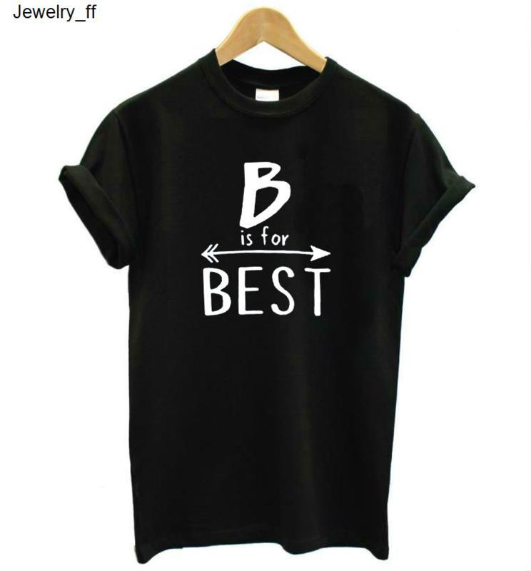 B Is En Mektupları Kadınlar Sık İçin Lady Top Tee Hipster Tumblr Bırak Gemi T Shirt için Kadınlar Tişört Pamuk Casual Komik T Shirt Baskı