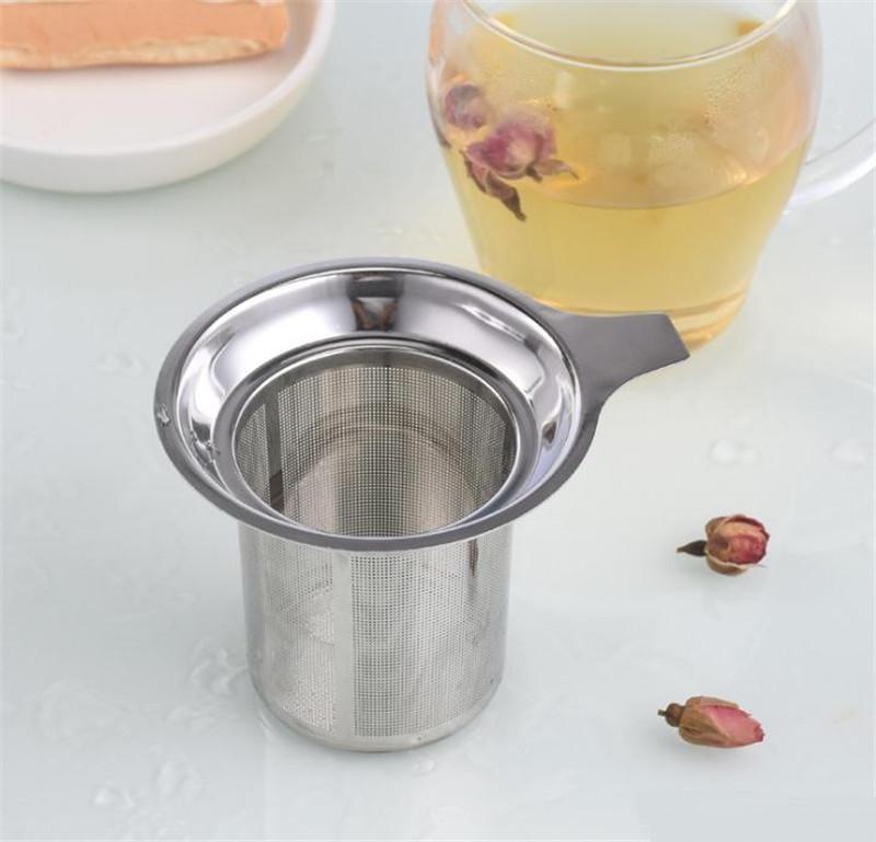 Envío libre caliente nuevo llega la malla de acero de Infuser del té Tamiz reutilizable hoja de té flojo inoxidable colador de té Filtro