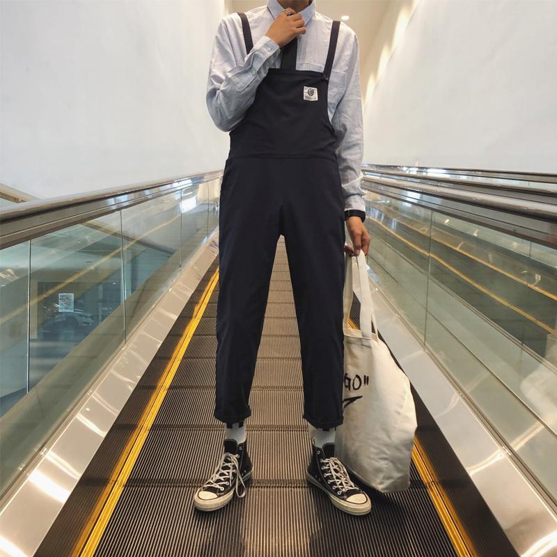 Tuta stile giapponese a vita bassa Tuta da uomo a ginocchiera casual tuta sportiva da uomo paio di pantaloni sportivi
