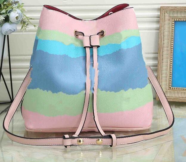 2020 Nova balde saco gravata-tintura impressão cerejeira flor rosa bolsa bolsa bolsa de ombro messenger bag outdoor