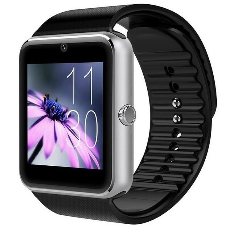Bluetooth Smart Watch GT08 Unterstützung SIM TF-Kartenkamera-Armbanduhr Telefonanruf für Android ios Multi-Sprache