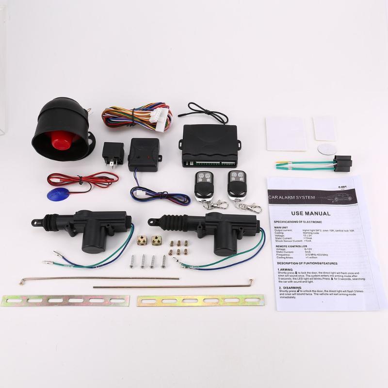 Sistema de seguridad remota de control del conjunto de sistema de entrada sin llave 2 Puerta Puerta central que traba el kit de alarma profesión del nuevo coche universal