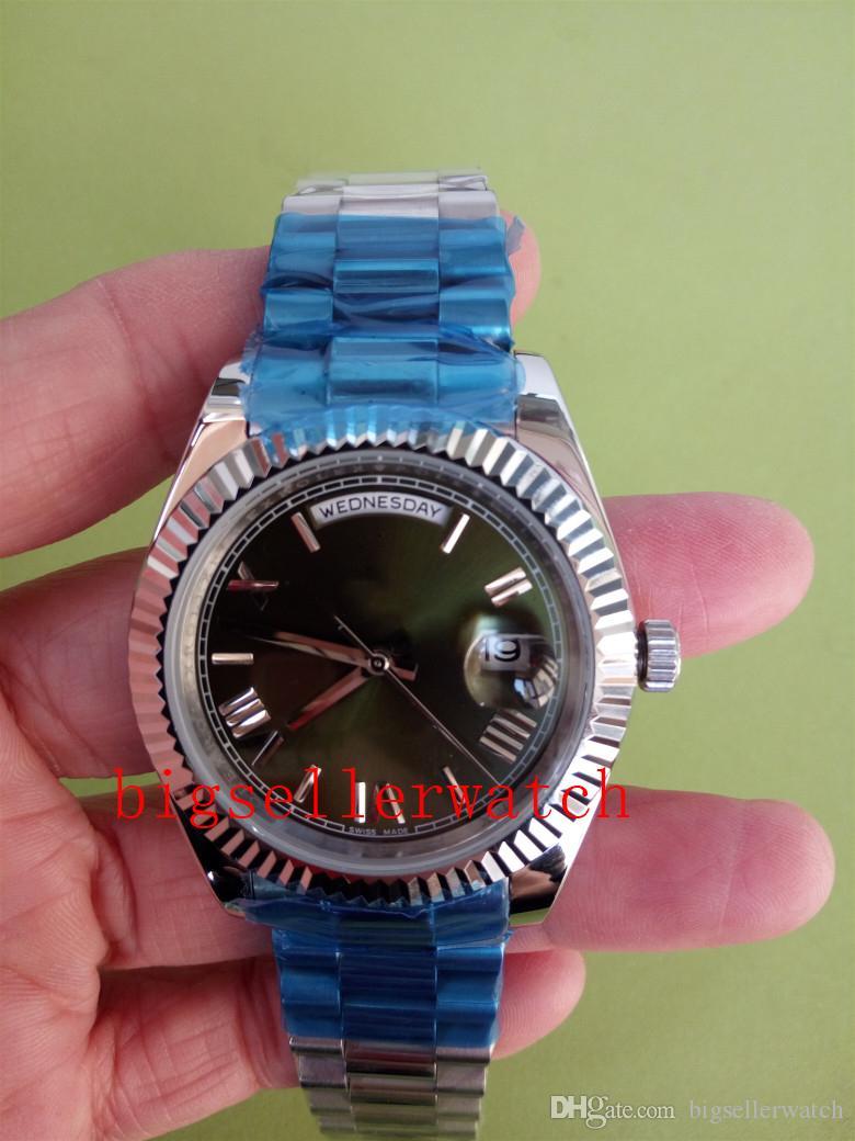 Роскошные высшие качественные мужские наручные часы DAY DATE II 218239 41 мм часы из нержавеющей стали