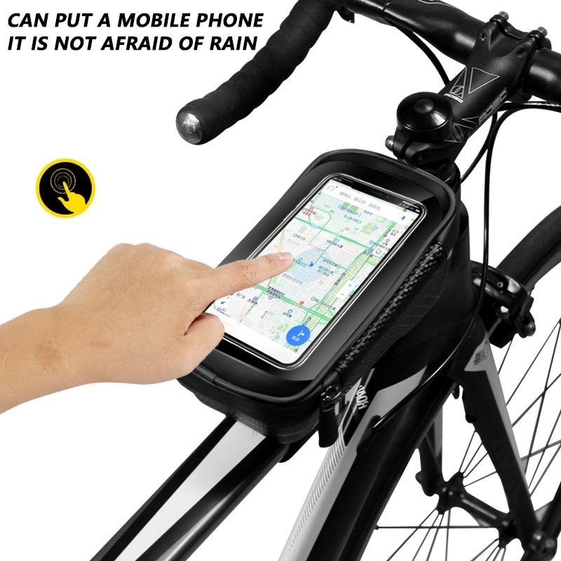 Cycling Bike Bicycle Front Frame Accessories M Pannier Tube Bag For Mobile Phone