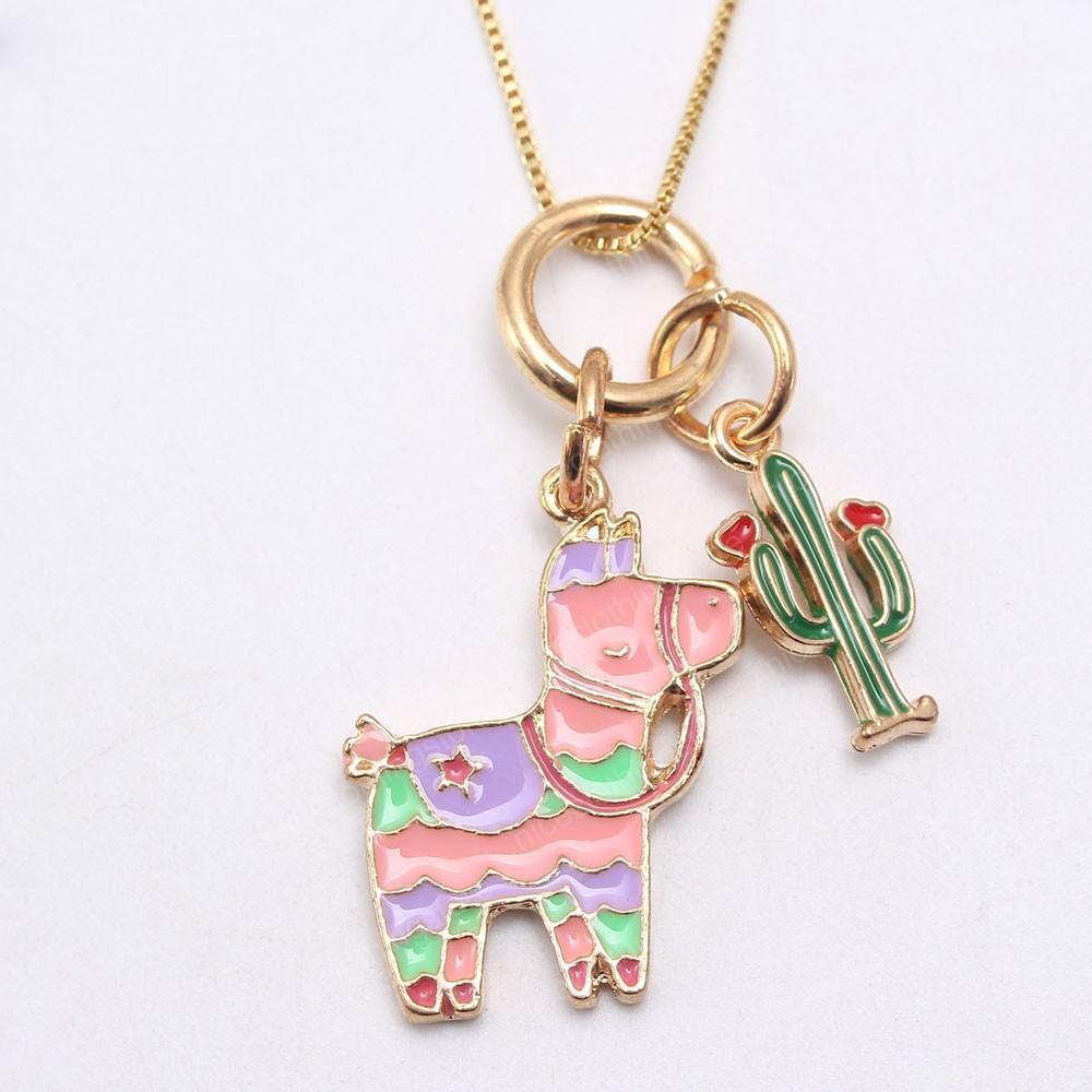 Carino ragazze Baby Dog Cactus pendenti di collana della catena del Bambino Moda bambini Lunga catena collana per regalo di compleanno