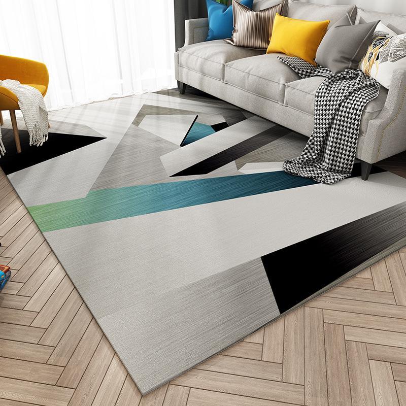 Nordic transfronteiriça tapete geométrica sala de estar mesa de café almofada do sofá cama quarto loja de tapetes para o quarto familiar pode ser personalizado