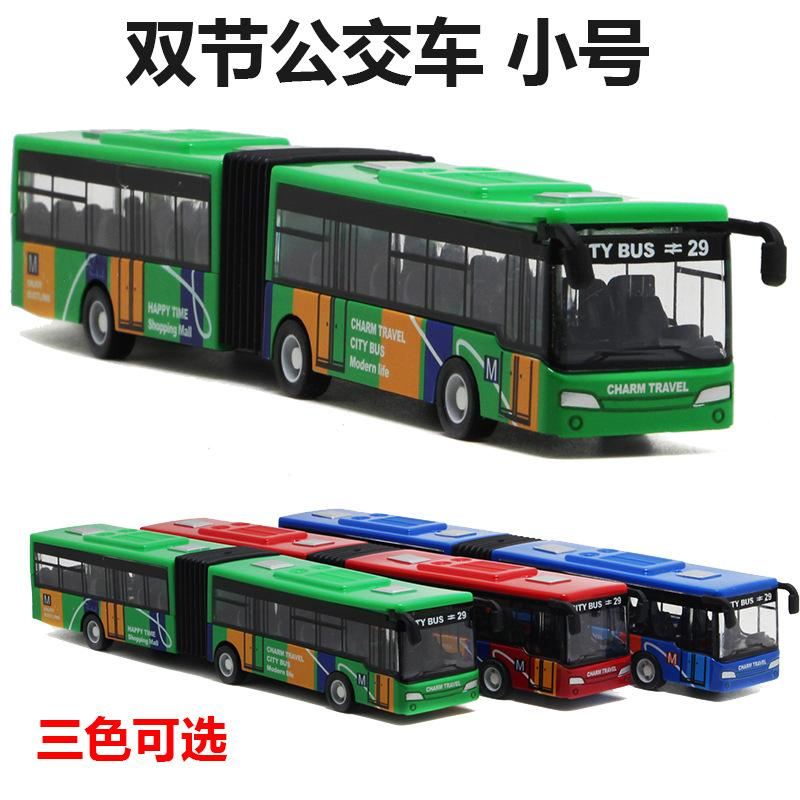 New double bus alloy toy with Huili camouflage appearance manufacturer wholesale small bus