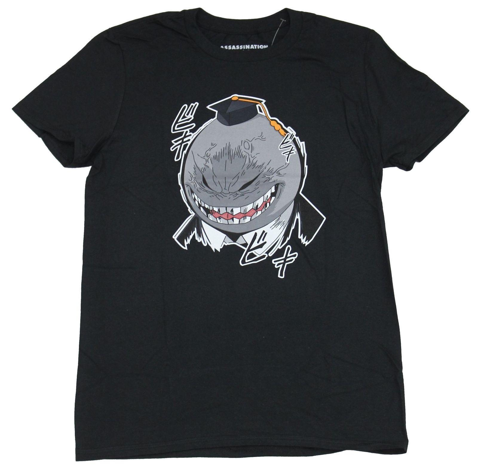Assassinato T-shirt dos homens da sala de aula - Koro Sensi cara irritada imagem dos desenhos animados da camisa de t homens Unisex New forma camisetas frete grátis