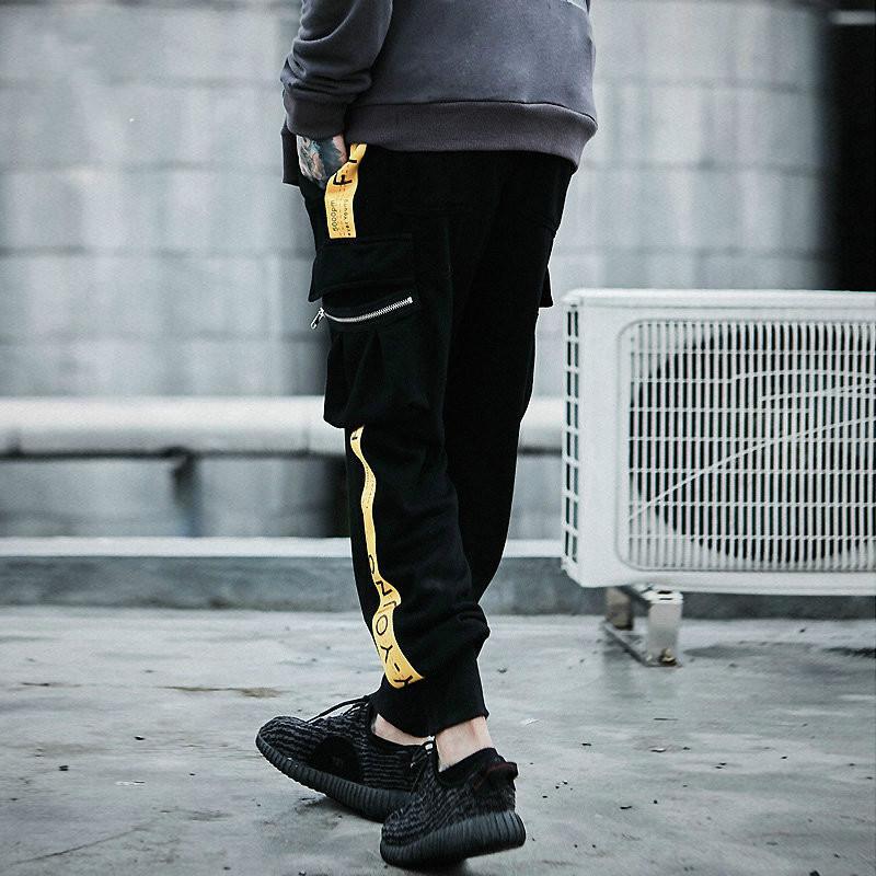 Thintenda 2020 Fashion Men Striped Patchwork-Harem-Hosen der Männer Hip Hop gedrucktes beiläufige Jogger Jogginghose Hose Male Street