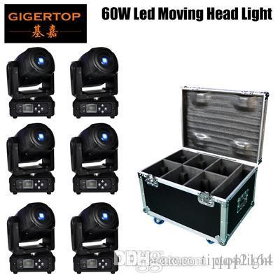 헤드 고보 라이트를 이동 gigertop 60W LED 단계 고보를 변경 7 고보 DMX 사운드 컨트롤 자동 회전 10/15 채널 무지개 7 색