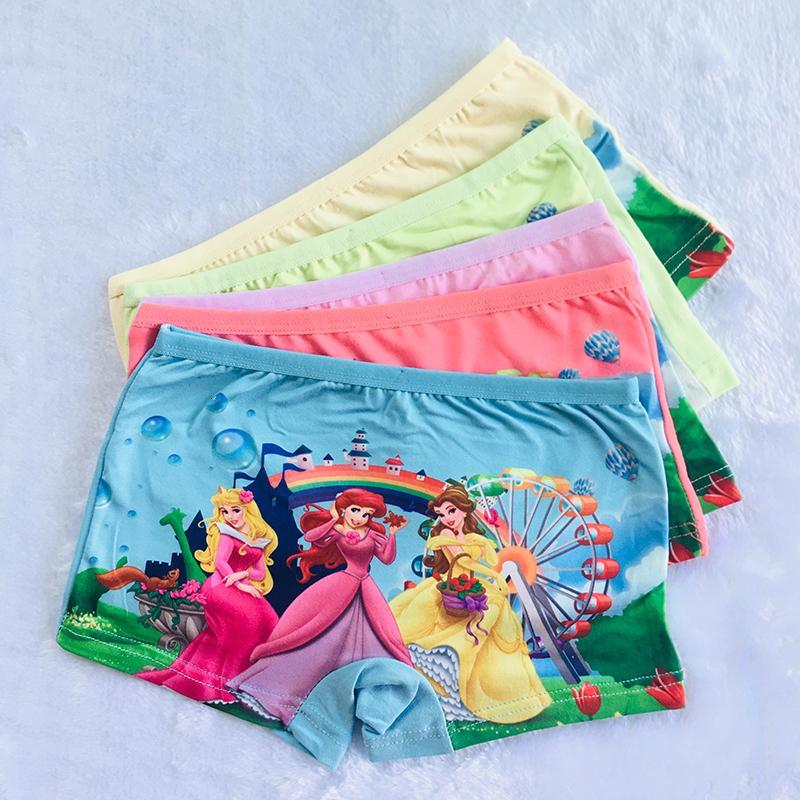 4Pcs / Lot vendita calda ragazze dei bambini di Underwears Mutandine nuovo bello del fumetto del bambino dei capretti biancheria intima della ragazza Slip mutande Panty