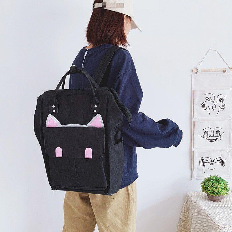 Женщины Многофункциональный рюкзак большой емкости Оксфорд Холст Дорожная сумка Симпатичные Мумия матери Рюкзак Дважды сумки на ремне