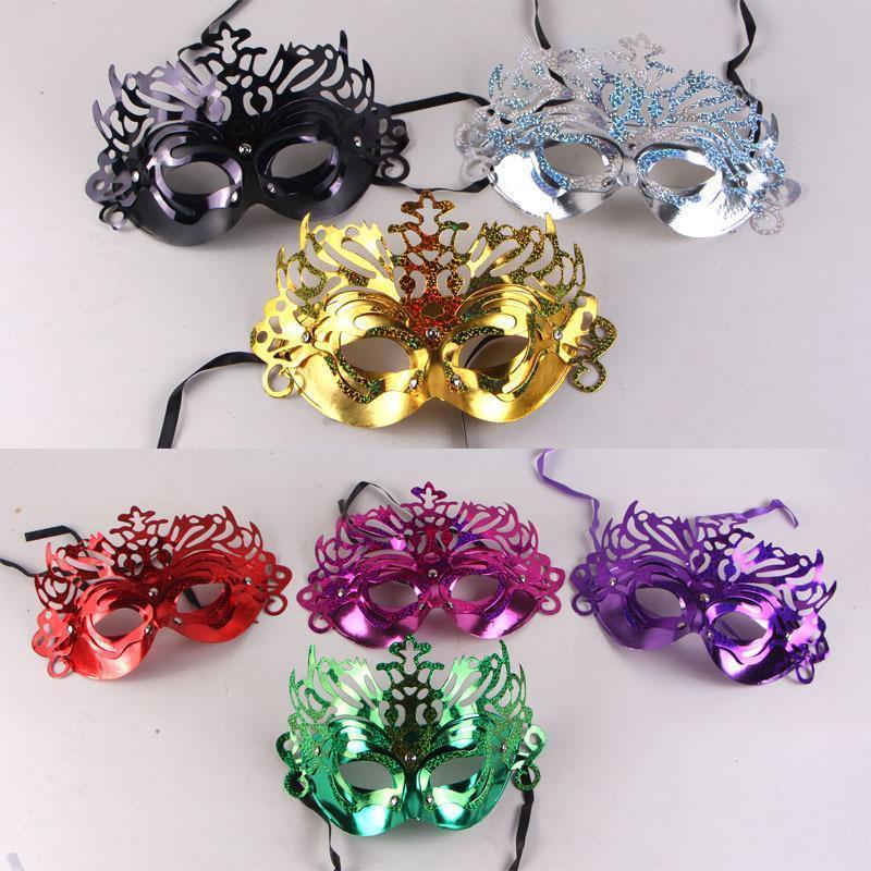 máscaras de Halloween, festas dançantes, coroas, coroas, máscara Princesa, Máscara de Veneza.