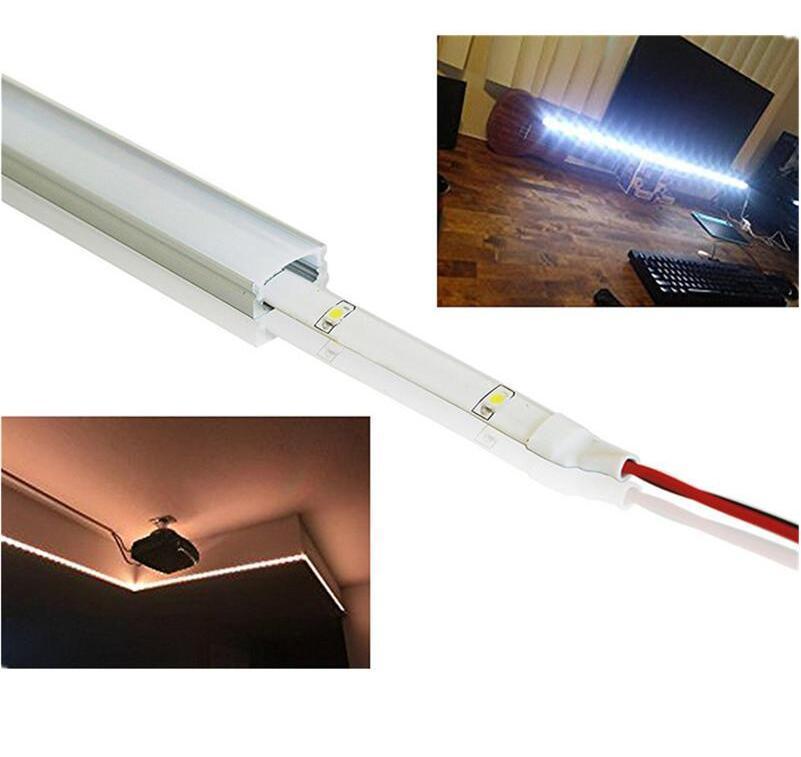 Freies Verschiffen anodisierte führte Aluminiumprofil für LED-Streifen, LED-Stab, LED Linear Leuchtengehäuse 3 Jahre Garantie