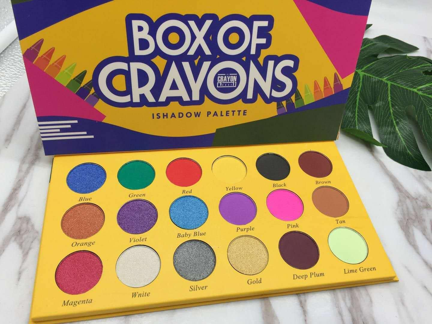 BOX OF CRAYONS Eyeshadow Palette 18 Color Shimmer Matte Eyeshadow Palette Makeup Eye shadow free DHL