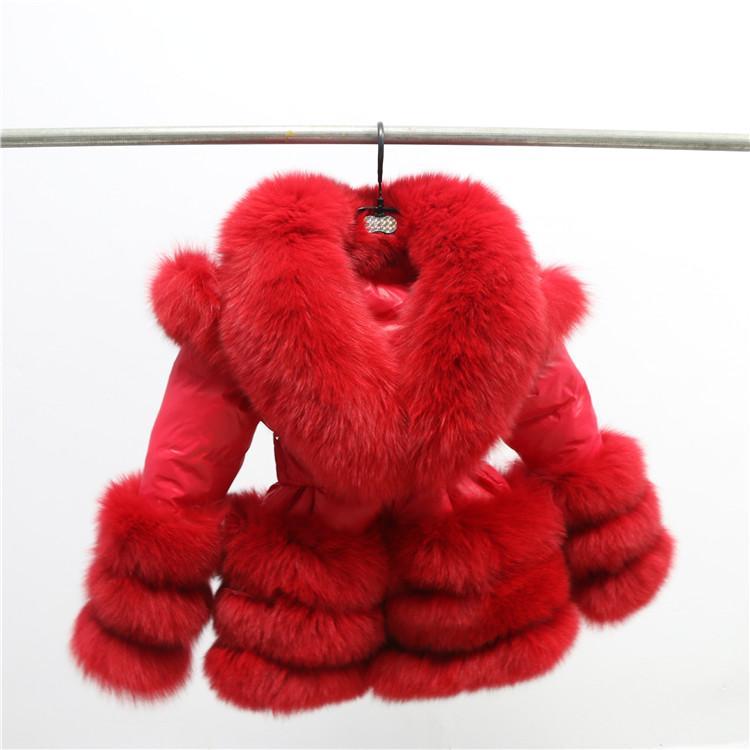 Free shipping factory wholesale price winter kids big collar puffer jacket/ popular fur trim down coat
