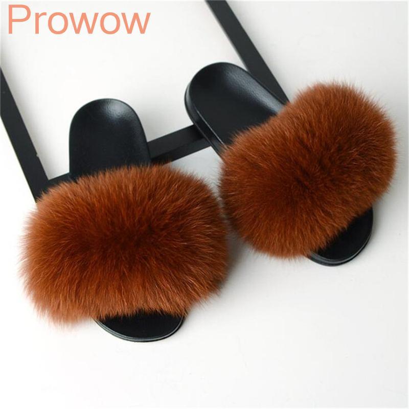 pantoufles sandales à la mode pour dames de fourrure de fourrure glisse personnalisée à fourrure Filles