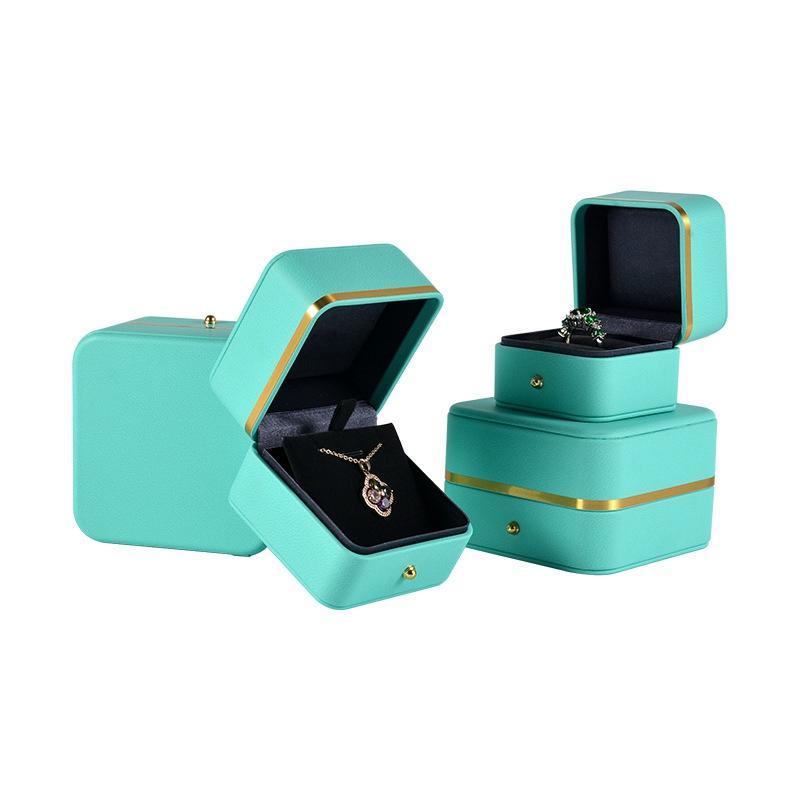 Monili di cuoio PU Gift Box Wedding Ring Collana Gioielli Organizzatore Packaging giorno di Case San Valentino 2020 Nuovo