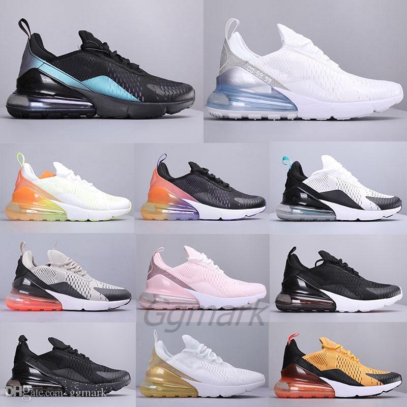 AIR MAX 270 Erkek Tasarımcı Koşu Ayakkabıları Regency Mor Üçlü Siyah Degrade Çekirdek Beyaz Kaplan kadınlar Açık hava yastığı Spor Eğitmenler Sneakers 36-45