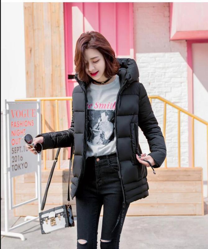 Dugujunyi 2019 معطف تصميم جديد خريف وشتاء المرأة سترة المرأة ستر خارجية أسفل سترة الشتاء معطف أنثى