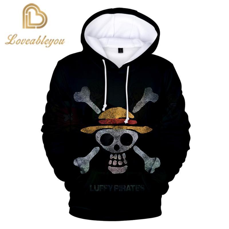Anime One Piece Luffy Hoodies 3D Print Pullovers Autumn & Winter Sweatshirts Casual Tops Outfit cosplay