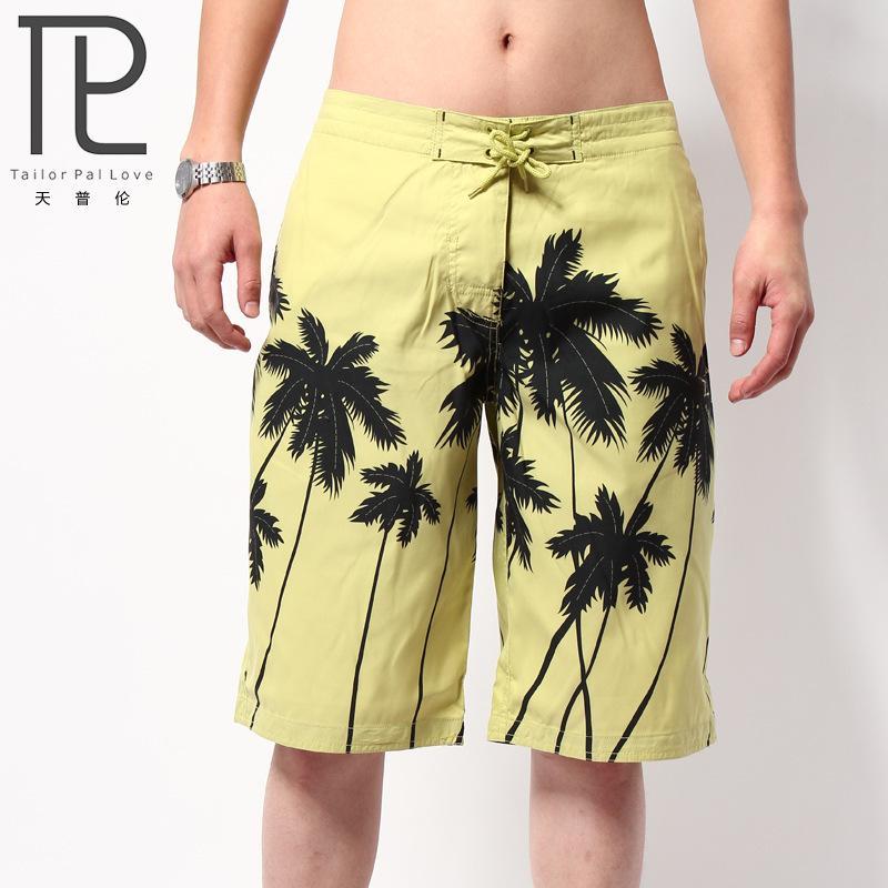 Мужская Пляж Mens Летняя одежда Кокосовое Trees Quick Dry море шорты masculina письмо Совет бермуды Y200511