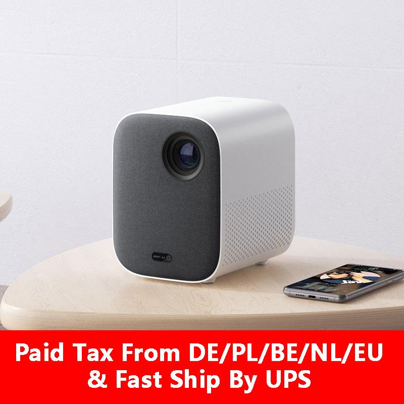Xiaomi Youpin Mini Projektör DLP Taşınabilir * 1080 1920 Destek 4K video WIFI Proyector LED'i Projektör TV Full HD Youpin Home Cinema için