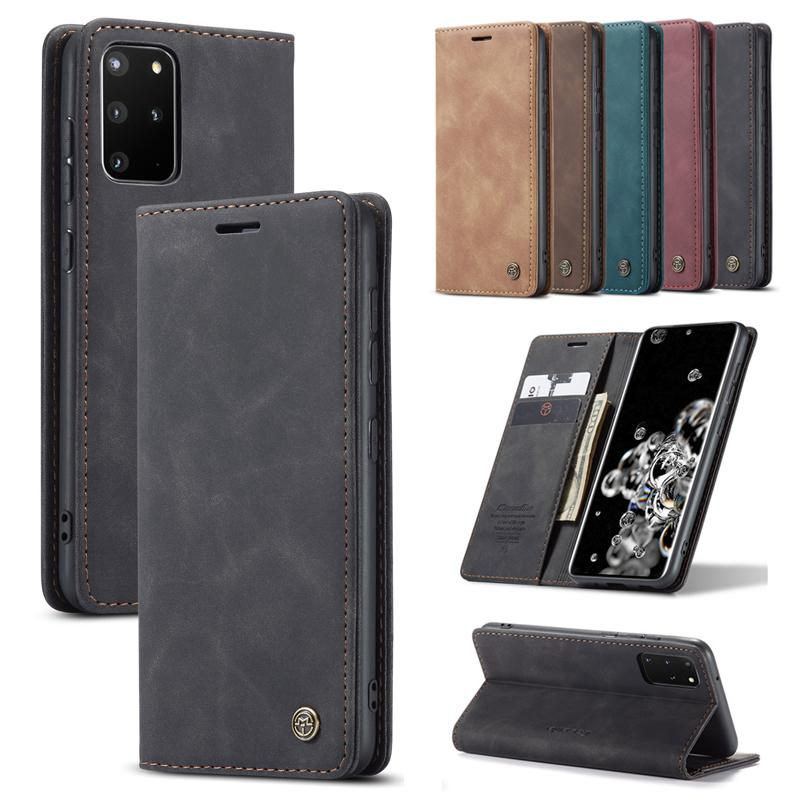 Caseme Magnetic PU Cuir PU pour Galaxy S20 Ultra S8 S8 S8 S7 SLET SLIGET Portefeuille Stand Stand Cover pour Samsung Note10 Note10plus