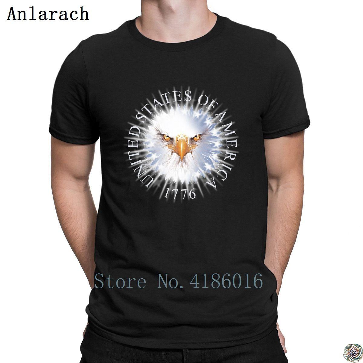 erkekler Fit Yaz Stili Anlarach hip hop için Amerika Birleşik Devletleri Est 1776 tişörtler Yeni Stil Kostüm Boş pamuklu t shirt