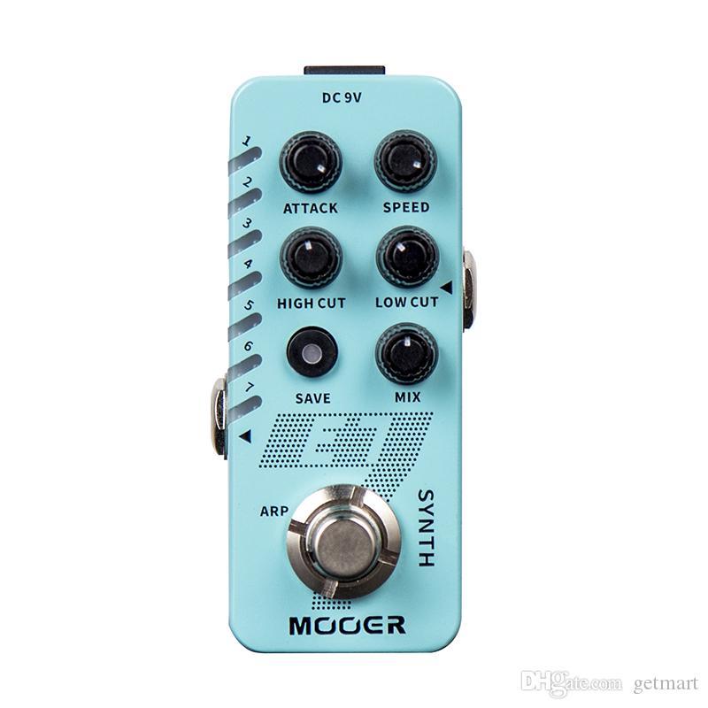 Mooer E7 полифонический гитарный синтезатор педаль 7 различных типов совершенно новых синтезаторных тонов MOOER