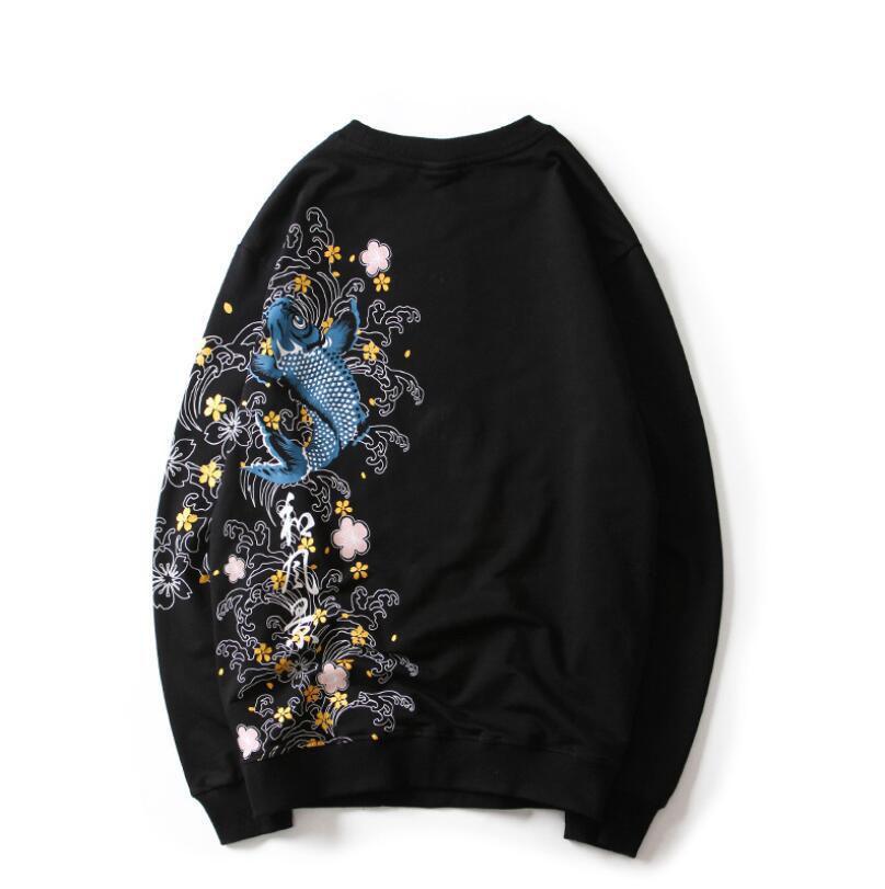 Новый дизайнер балахон для женщин мужские шею творческий печати кофты мода повезло пуловер роскошные толстовки