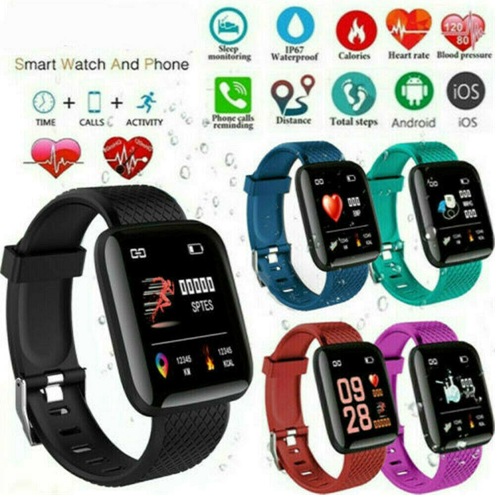 D13 D18 D20 Y68 115Plus 116Plus 119Plus Smart Watches 116 115 Plus Heart Rate Watch Smart Wristband Sports Watches Blood Pressure Band