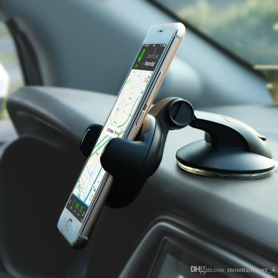 Nouveau Suporte Porta Celular Samsung iPhone Huawei Telefon cellulaire Soporte Movil Mobile Auto Phone Support Support voiture Smartphone Voiture (détail)