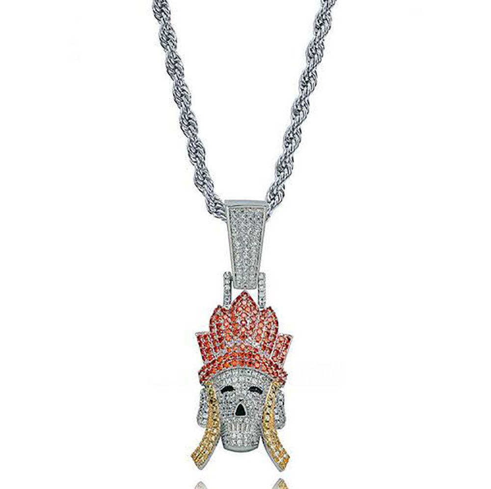 Замороженный Трипитака Король обезьян Свинья Песчаная подвеска Ожерелье Bling Персонаж из путешествия на запад Ювелирные изделия Micro Pave Цирконий
