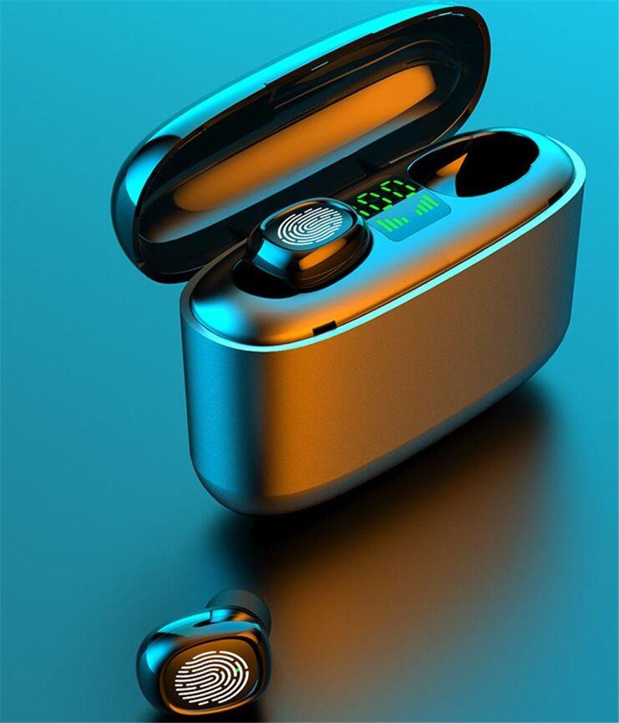 i12 TWS Bluetooth 5.0 Earphone Double Call Headphones Stereo Smart Touch Earphone With Pop Up Windows Earphone Earbud Earpieces #OU672