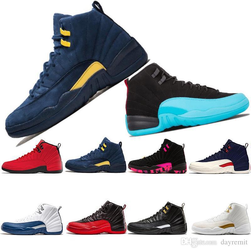 12 12s pallacanestro Scarpe Uomo Donna 2019 Nuova Palestra Red Michigan College Navy Classic CNY playoff Designers XII sneakers sport formatori