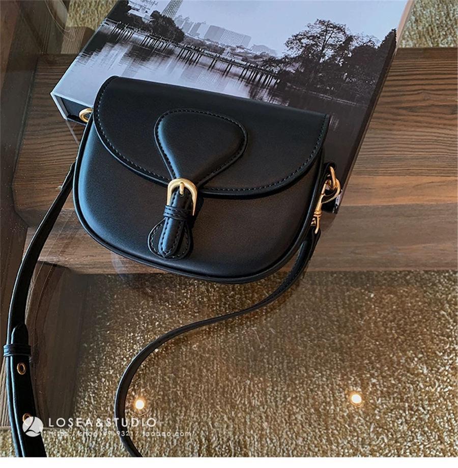 2020 Ücretsiz nakliye kaliteli hakiki siyah deri kadın çanta omuz çanta kabartmalı crossbody çanta postacı çantası