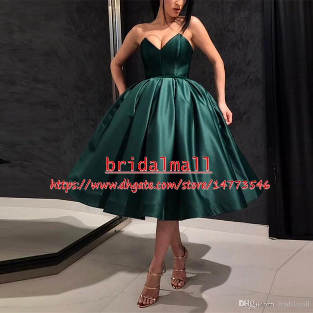 dfea378eea4 ... Royal Blue Satin Short Prom Dresses 2019 Sweetheart Formal Party Gowns  Cheap Cocktail Graduation Dress Celebrity