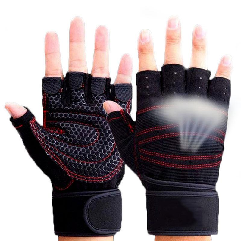 Body Building Training WeightLifting Gloves For Men Women Workout Half Finger Fitness Exercise Gym Fitness GYM Gloves Mittens