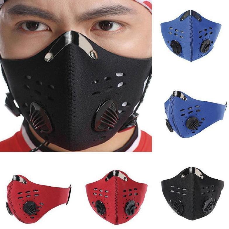 Máscara de bicicleta EEE1749 Poeira Isolamento Isolamento Ciclismo Bicicleta Homem Carbono Mulher Anti-Máscara Anti-Poluição Ativado Rosto Com Corrida Bike Noapx