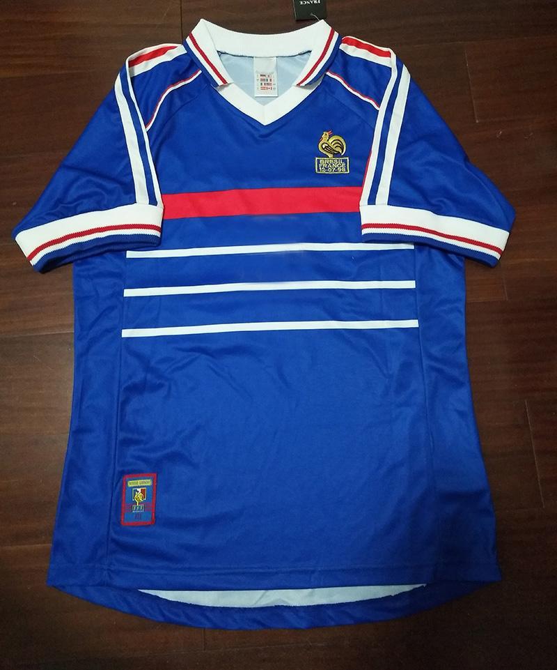 98 Retro Soccer Jerseys Zidane Trezeguet Maillot Djorkaeff Henry Deschamps 1998 Classic Shirts Vintage Kits football Shirt Maillot