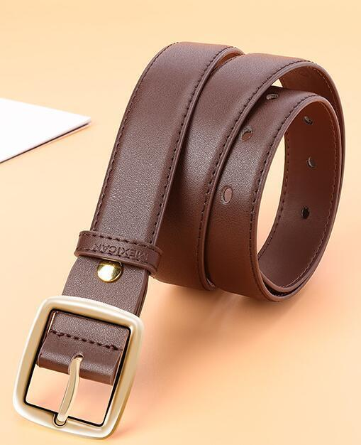 111 Style Luxury Genuine Leather Belt for Men and Women Fashion Smooth/Pin Buckle Plaid Belt Designer Belt High Quality Cowhide 105-120 cm 2