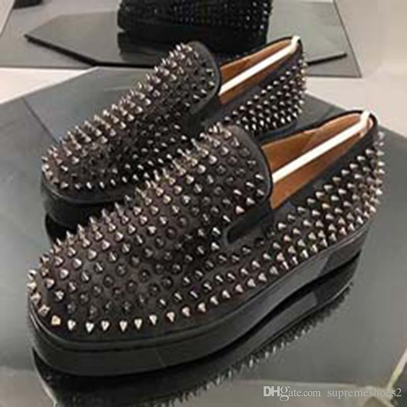 2020 Кроссовки Red Bottom обувные Low Cut замша шип обувь для мужчин и женщин обувь партии ногтей обувь кожа кроссовки G7