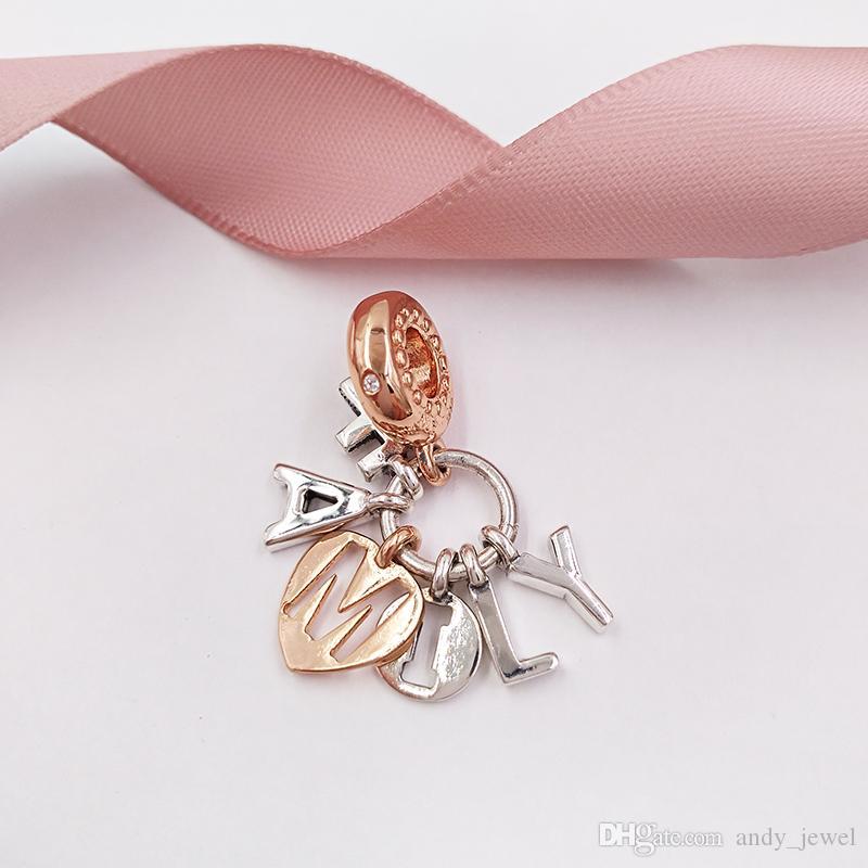 Autentico 925 perline in argento sterling 925 Perfect Family Dangle Charms Charms Adatti Bracciali europei Bracciali per gioielli in stile Pandora 787785CZ