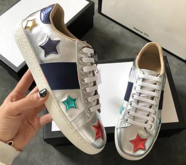 Ace İşlemeli Sneaker Ace Çivili Deri Ayakkabı Ace Glitter Günlük Ayakkabılar hococal, Soyguncu Sole, Boyut 35-45, Ücretsiz Gönderim