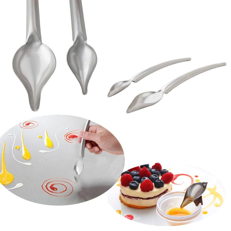 Creative Cake Decoration Pencil Spoons Decorate Sushi Food Draw Tool Coffee Dessert Bakeware Cake Gastronomy Spoon
