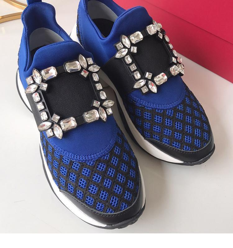 Los nuevos zapatos casuales hebilla de la manera zapatos de mujer de cristal de diseño de conjunto de las zapatillas de deporte Zapatos De Mujer Tenis Femenino para los zapatos de las mujeres