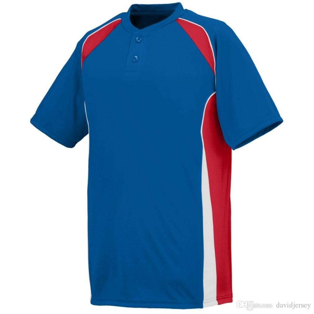 2019 Camo Özel Renk Yeni Erkekler Beyzbol Forması Genç Basit Düzgün Formalar Kimlik 000113 Ucuz