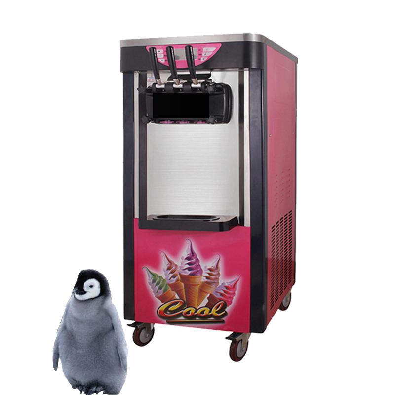 Commercial taylor ice cream machine 2100W Stainless steel soft ice cream making machinewith brand compressor 110V/220V